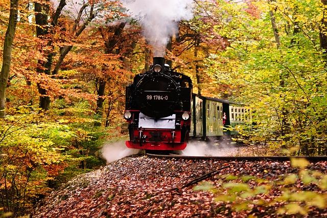 jízda parní lokomotivy