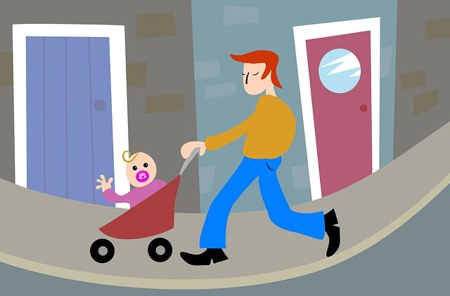 otec s dítětem ilustrace