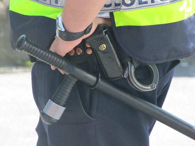 policie s obuškem