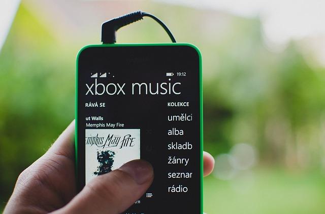 xbox music na mobilu