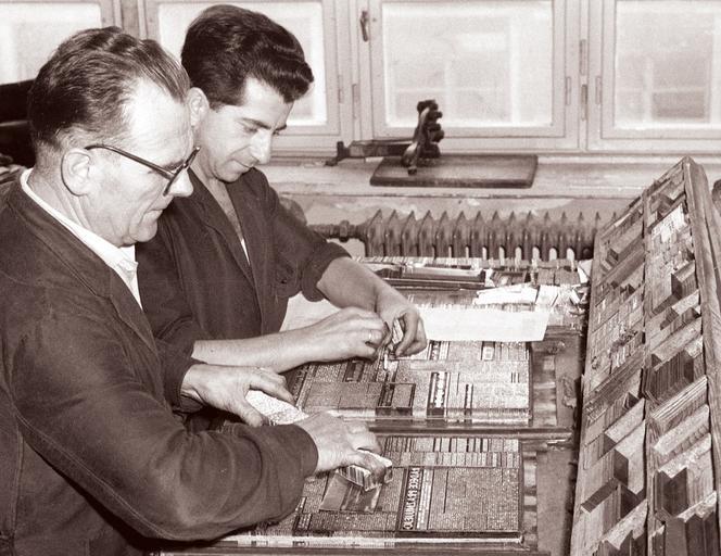 tiskaři v práci