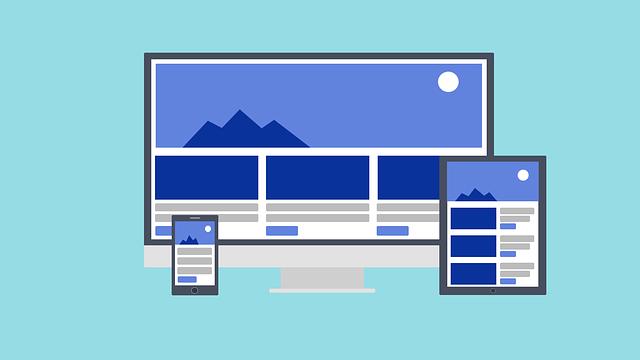 Webová stránka na různých zařízeních